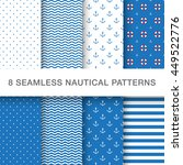 set of sea and nautical... | Shutterstock .eps vector #449522776