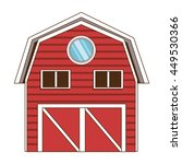 flat design red wooden barn... | Shutterstock .eps vector #449530366