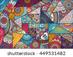 seamless pattern. vintage... | Shutterstock . vector #449531482