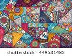 seamless pattern. vintage... | Shutterstock . vector #449531482
