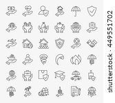 line art design icons big set.... | Shutterstock .eps vector #449551702