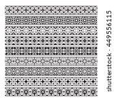 traditional ornamental borders... | Shutterstock .eps vector #449556115
