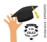university and graduate concept ... | Shutterstock .eps vector #449563492