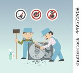 service guys in working dress... | Shutterstock .eps vector #449572906