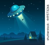 Vector Illustration Of Ufo In...