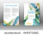 color brochure design template. ... | Shutterstock .eps vector #449573482