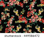 trendy seamless floral pattern... | Shutterstock .eps vector #449586472