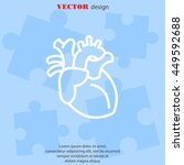 web line icon. human heart | Shutterstock .eps vector #449592688