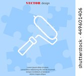 web line icon. roller for... | Shutterstock .eps vector #449601406