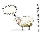 freehand drawn speech bubble... | Shutterstock . vector #449604625