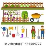 gardening set  rural landscape... | Shutterstock .eps vector #449604772