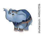 a circus elephant. vector... | Shutterstock .eps vector #449619556