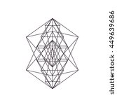 signs sacred geometry. alchemy  ... | Shutterstock .eps vector #449639686
