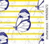 beautiful silhouette butterfly...   Shutterstock .eps vector #449650672