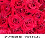 Closeup Bouquet Of Red Rose...
