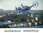 pesonal air vehicle flying... | Shutterstock . vector #449659522