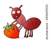 freehand drawn cartoon ant with ... | Shutterstock . vector #449659552