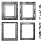 silver picture frame. isolated... | Shutterstock . vector #449665786