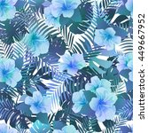 seamless pattern with exotic... | Shutterstock .eps vector #449667952