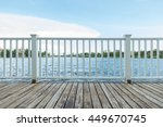 wooden white porch with... | Shutterstock . vector #449670745