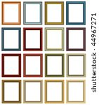 scalable vector  picture frames.... | Shutterstock .eps vector #44967271