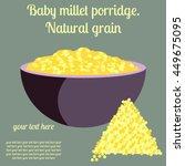 baby food. children's porridge. ...   Shutterstock .eps vector #449675095