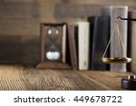 mallet  legal code and statue... | Shutterstock . vector #449678722