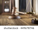 mallet  legal code and statue... | Shutterstock . vector #449678746