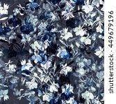 imprints meadow flowers. hand... | Shutterstock . vector #449679196