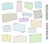 set of colorful papers   vector ... | Shutterstock .eps vector #449693206