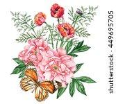beautiful garden bouquet of...   Shutterstock . vector #449695705