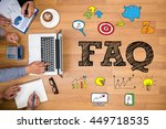 faq abbreviation   frequently... | Shutterstock . vector #449718535