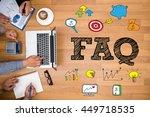 faq abbreviation   frequently... | Shutterstock . vector #449718535