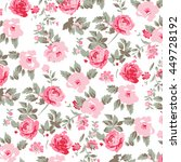 flower pattern background  | Shutterstock .eps vector #449728192