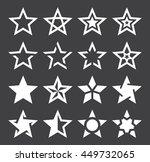 star shape icons   illustration  | Shutterstock .eps vector #449732065