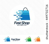 shopping logo design vector  ... | Shutterstock .eps vector #449732716