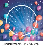 holiday card with flying... | Shutterstock .eps vector #449732998