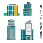 flat business buildings | Shutterstock .eps vector #449744335
