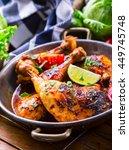 Roasted Chicken Legs In Pan...