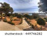 valletta city harbor area at... | Shutterstock . vector #449746282