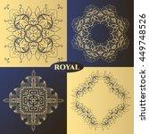 luxury logos for decoration.... | Shutterstock .eps vector #449748526