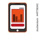 smartphone bars sound icon...