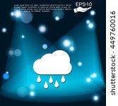 weather icon. cloud rain.   Shutterstock .eps vector #449760016