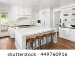 white kitchen interior with... | Shutterstock . vector #449760916