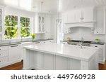 white kitchen interior with... | Shutterstock . vector #449760928