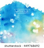 watercolor  beautiful abstract... | Shutterstock .eps vector #449768692