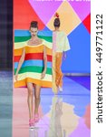 Small photo of Model walks the runway during the Agatha Ruiz De La Prada Resort 2017 Fashion Show at Miami Fashion Week at Ice Palace on June 3, 2016 in Miami, Florida