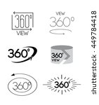 360 degrees view vector icon | Shutterstock .eps vector #449784418