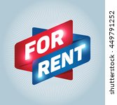 for rent arrow tag sign icon.... | Shutterstock .eps vector #449791252