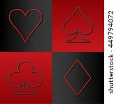 four card suits hearts spade... | Shutterstock .eps vector #449794072